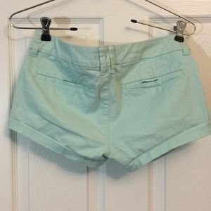 American Eagle Outfitters Shorts - Mint green chino shorts